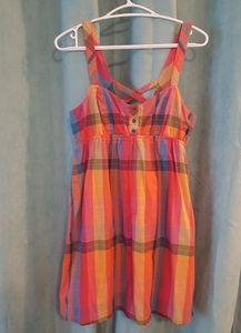 ☆3 for $25☆ Volcom colorful plaid sundress